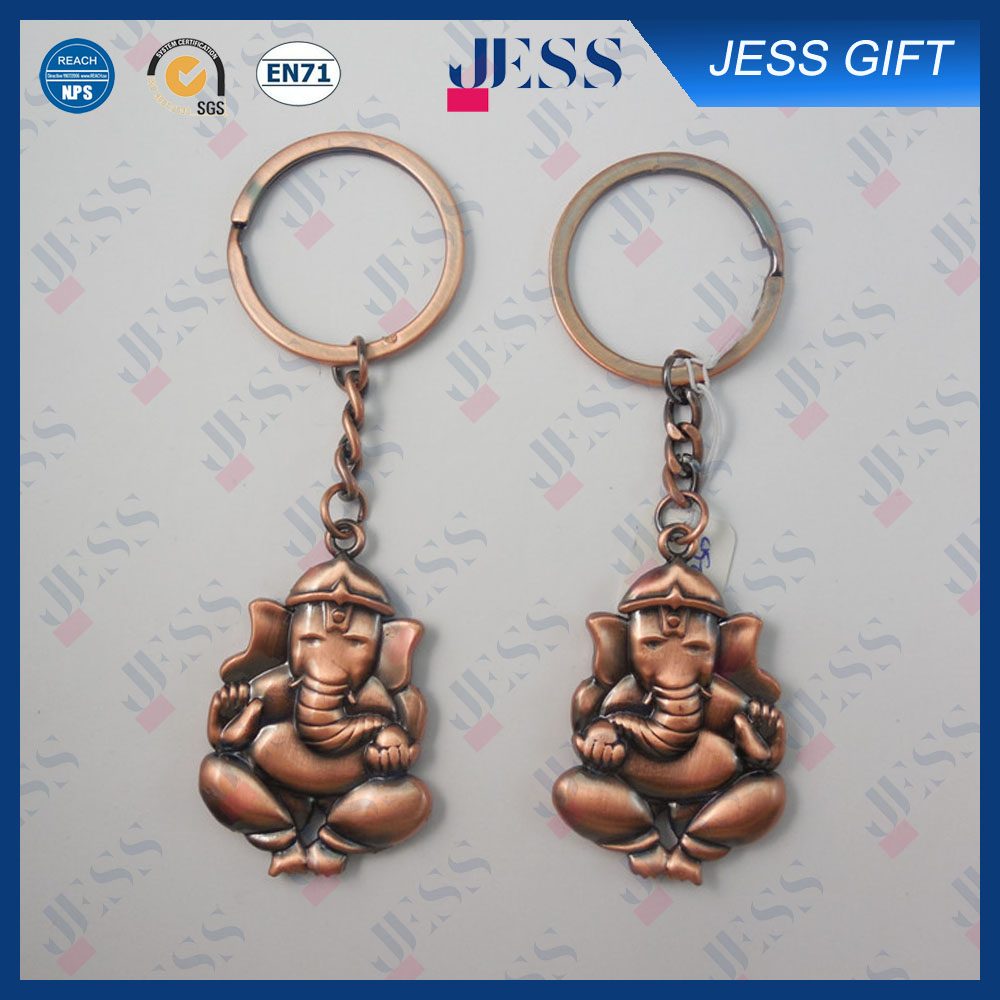 Big Promotion 3D Lively Elephant Zink Alloy Metal Keychain for Gift