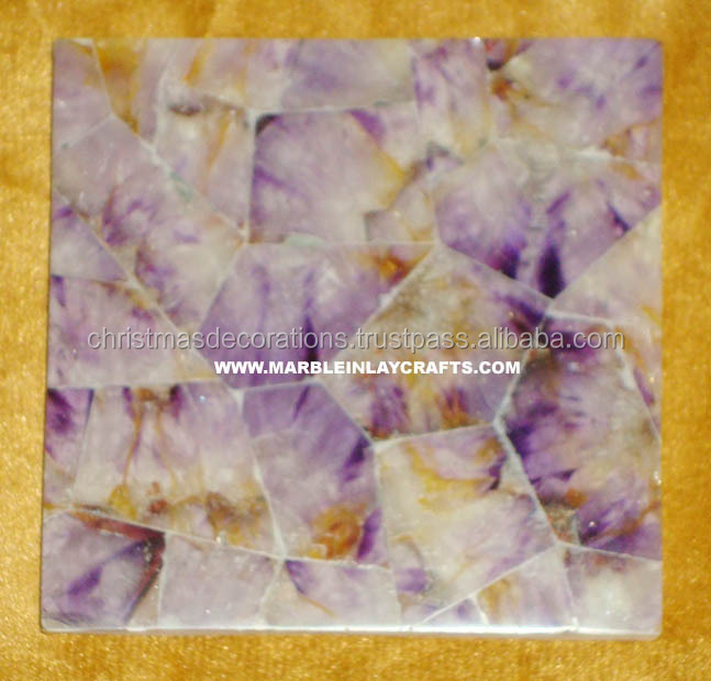 Gem Hard Stone Amethyst Tiles