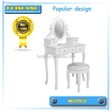 white modern dressing table with mirrors