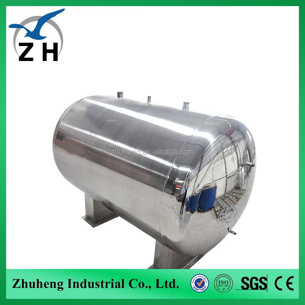 Vertical or horzontal liquid co2 storage tank with heating