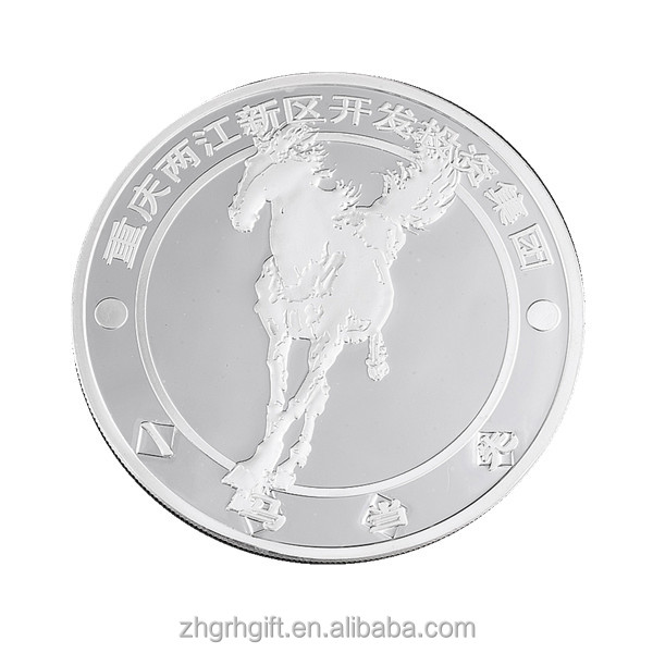Good Looking horse logo 999 Plating Silver Coin 999 Pure Silver Coin
