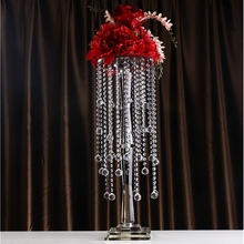 Europe beautiful wedding decoration flower stand centerpieces crystal