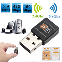 600Mbps Dual Band 2.4G / 5GHz Wireless Network Card Mini Lan USB 2.0 Computer PC WiFi Adapter Wi-fi Adaptador 802.11AC