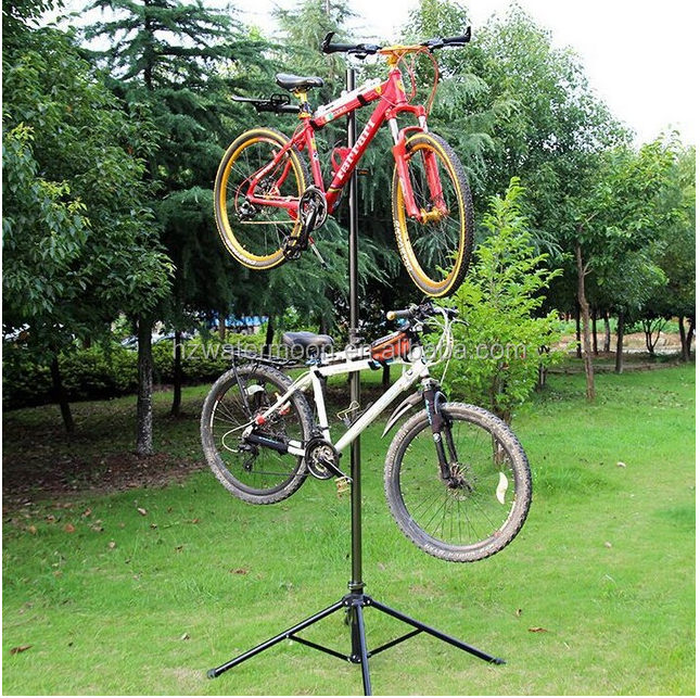 Bike Bicycle Repair Stand Telescopic Arm Foldable Cycle Bike Rack Workstand Home Mechanic Tool Lightweight and Portable