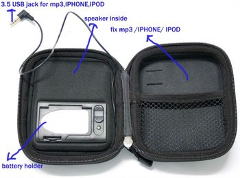 good sound speaker case ------ mp3/4,phone