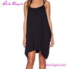 Latest Designs Black Baggy Straless Fashion Summer Dress