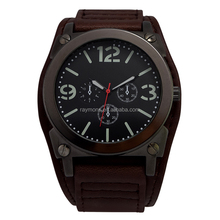 Newest Big face men watches genuine leather durable watches for man