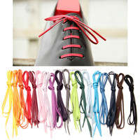 waxed shoe laces 8mm cotton waxed shoelaces 10mm flat 3mm round