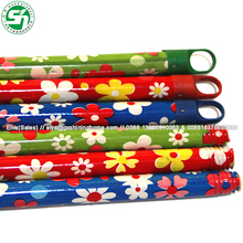 Chinese PVC Coated Wooden Coconut BROOM STICKS/ COCO LEAF STICK