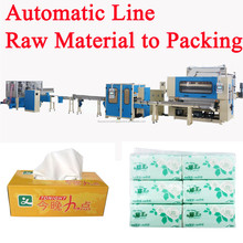 Servo Motor Driven Automatic High Speed Facial Tissue Paper Production Line
