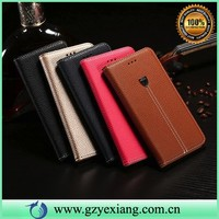 litchi leather flip case for samsung galaxy mini s5570 protective case with stand