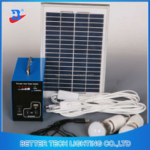 Manufacturer China solar power system home Mini solar kit with LED bulb lights and USB jack