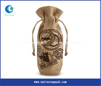 single packing burlap wine bags wholesale