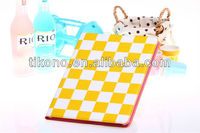 For factory price bling bling grid leather cases for ipad