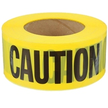 Black Yellow Adhesive Hazard Tape Detectable Warning Safety road reflective marking tape
