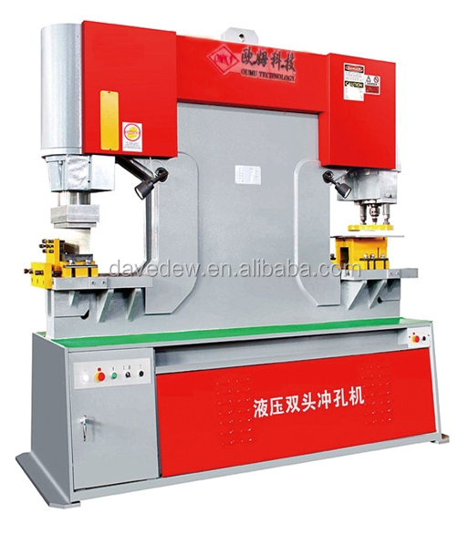 Multi-function Ironworker, Twin Head Shearing and Stamping Machine, Universal Combined Punching and Shearing Machine