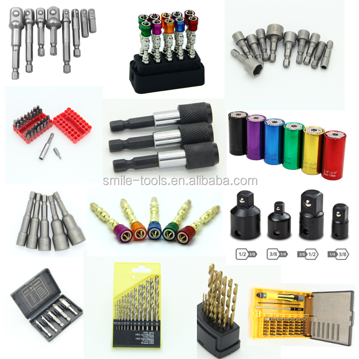 Multi-function 7mm to 19mm Universal Sockets Metric Wrench Power Drill Adapter Socket Professional Repair Tools