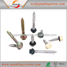 Self Drilling Hex Head Roofing Screw with Rubber Washer