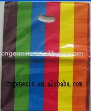 large resealable chromatic plastic handle bag with customized waterproof printing