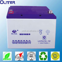12v70ah CE ISO UL AGM Sealed maintenance free Rechargeable lead acid battey