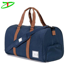 travel products classical canvas duffle tote bag, vintage canvas bags with leather