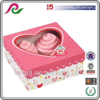 Customed ODM Different Shaped Cakecup Boxes Design Cake Gift Box Styles Made of 300gsm Food Grade Paper