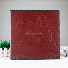 New Leather wedding album design photo album with self-adhesive sheets(12pcs) album