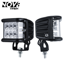 1 Pair 45W Dually Side Shooter Led Cubes Off Road Lights Led Work Light for Jeep Truck Car ATVs Pickup SUV ATV UTV