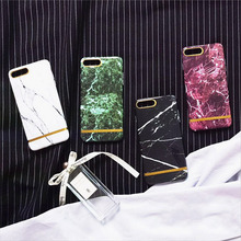 Korea Concise Literary Marble Gold Line Mobile Phone Shell Cell Phone Case