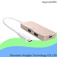 new aluminum type c 2 port usb 3.1 charge hub for Macbook Air 12""
