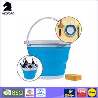 BSCI Audit portable colorful collapsible bucket