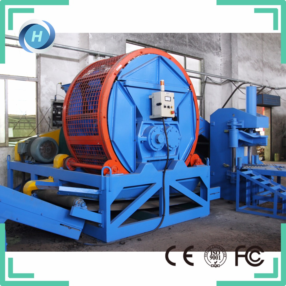 2016 hot sale automatic used tire shredder