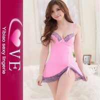 Wholesale Fashion Sweet Sexy Babydoll 2013 Latex Sexy Babydoll Lingerie Hot Sale Pink Mature Lingerie Sexy Babydoll