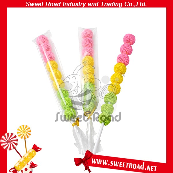 Fruits Jelly Gummy Candy Ball Traffic Light Lollipop Candy