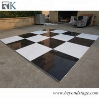 outdoor portable black and white dance floor for wedding