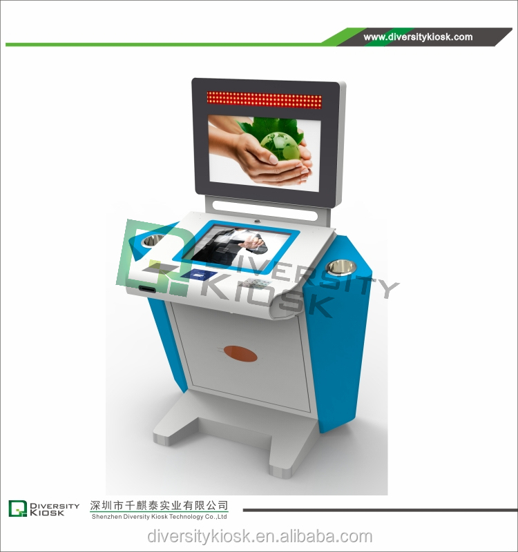 thermal printer with multiple font size interactive atm kiosk/atm booth