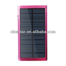 solar pv cell phone charger with led charging indicator
