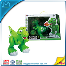 Newest hot item radio control dinosaur with spray dancing function with ABS materials