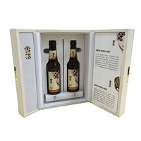 exclusive good quality hot stamping luxury packaging box wine gift box for 2 bottle