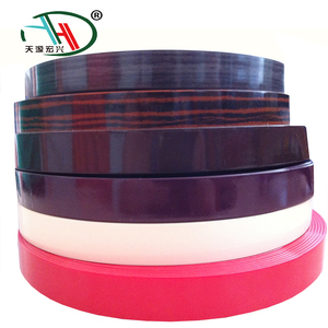 High glossy pre-glued pvc edge bands for laminate board,furniture wood grain edge banding