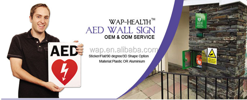 WAP'R Metal Wall Mount AED Cabinet With Alarm and Strobe light
