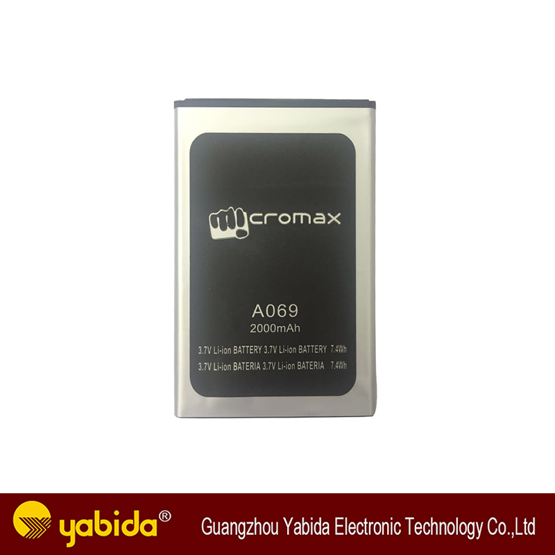 Li-ion mobile phone battery with attracted price for Micromax A069