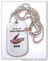 Customized printing stainless dog tag
