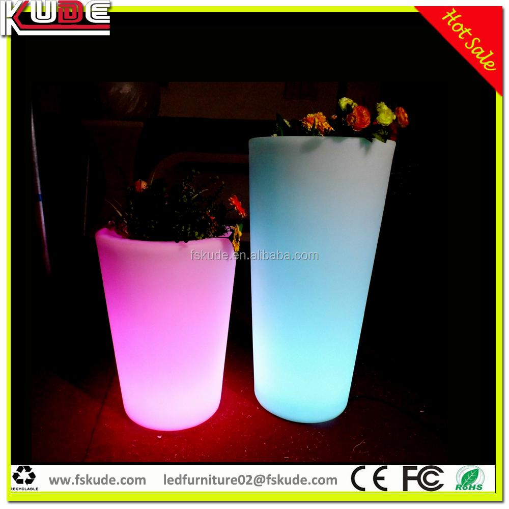 Wholesale Garden Pots Led Light Plastic Flower Pot Led