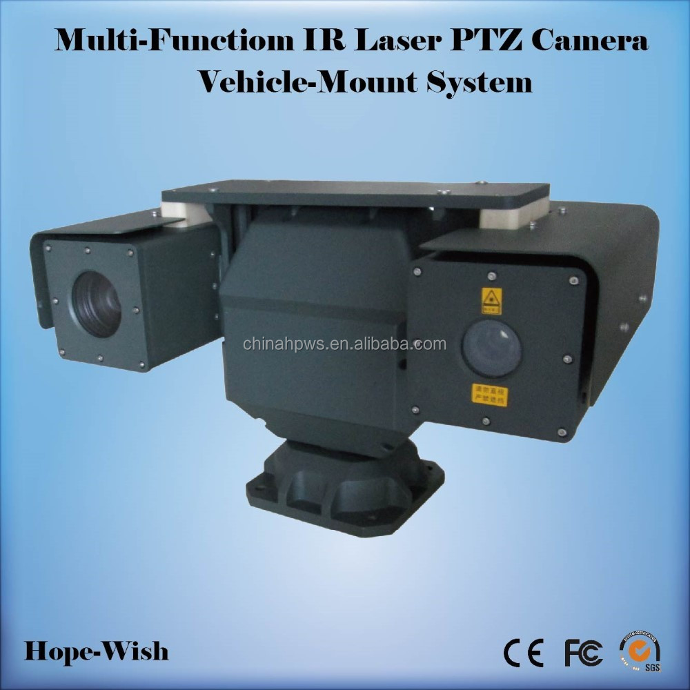 car mounted 360 degree PTZ Surveillance laser camera