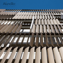 Vertical Sun Protection Aluminum Louver for Facade Cladding