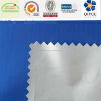car cover fabric 210t ripstop polyester taffeta fabric Pu 1000mm silver coated fabric