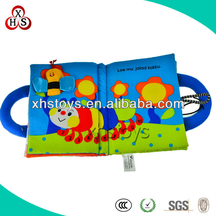 2013 custom baby soft cloth book& cloth book for baby