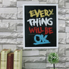 interior canvas painting Wall Decorarts and craft Decorative Frame with Silk Screen Letters
