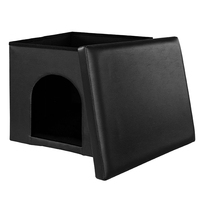 Fold Up Faux Leather Pet Bed House